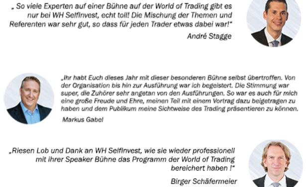 World of Trading 2019: 16 spannende Trading-Vorträge für Sie