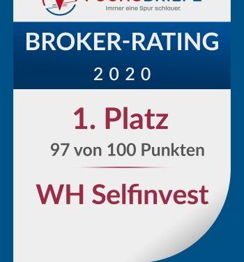 """WH SelfInvest als """"Bester Broker 2020"""" von Fuchs Briefe ausgezeichnet"""