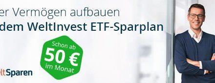 Mit einem Sparplan ab 50 Euro investieren