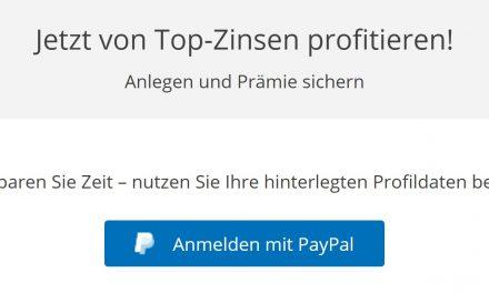PayPal-Login macht Sparen mit hohen Zinsen noch einfacher