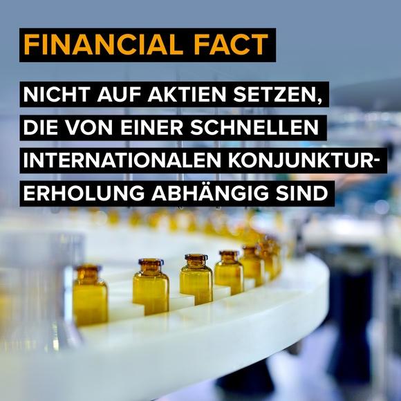 Financial Fact: Nicht auf Aktien setzen, die von einer schnellen internationalen Konjunkturerholung abhängig sind